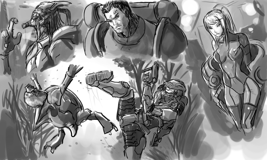 Sketches from Video games by Frost7