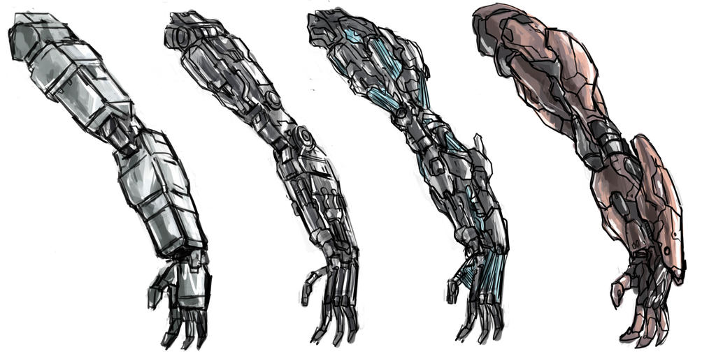 Hydraulic Arm Design : Robotic arm upgrade by frost on deviantart