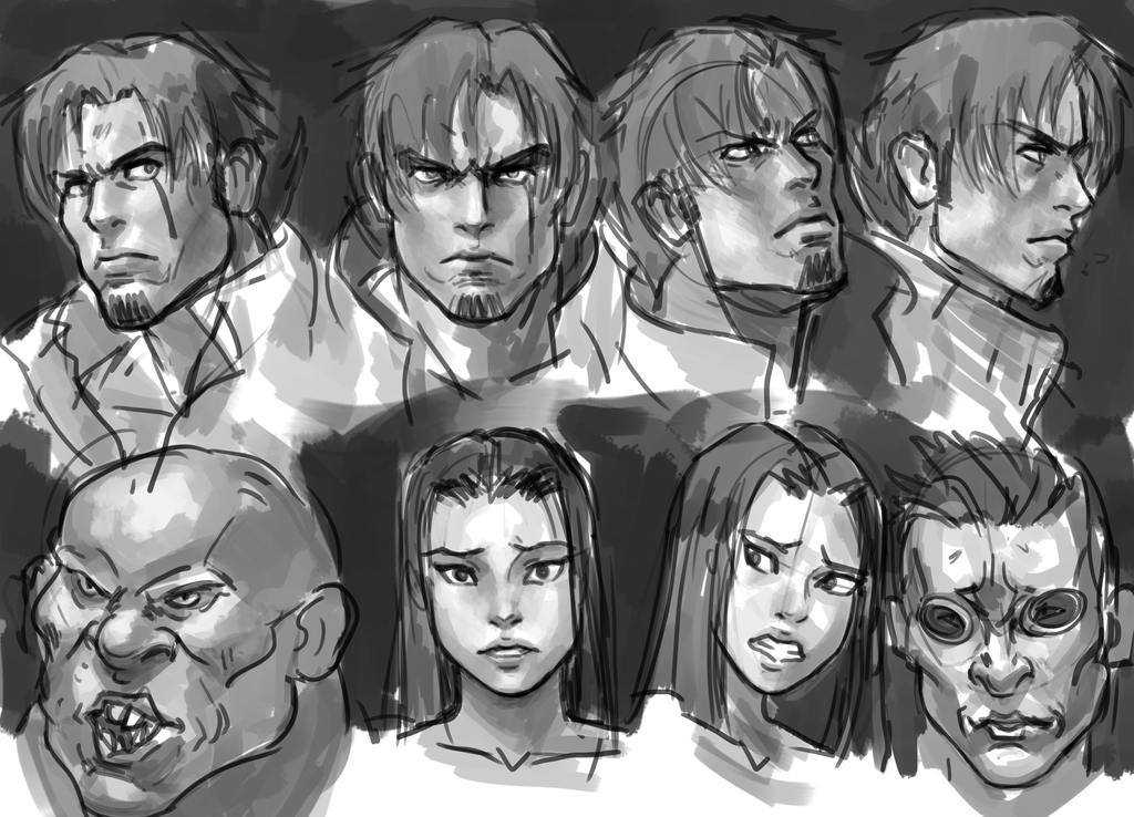 Face Sketch 1 by Frost7