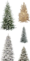 MIsc Frosted Christmas Tree PNGs