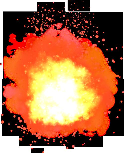 Fire explosion transparent