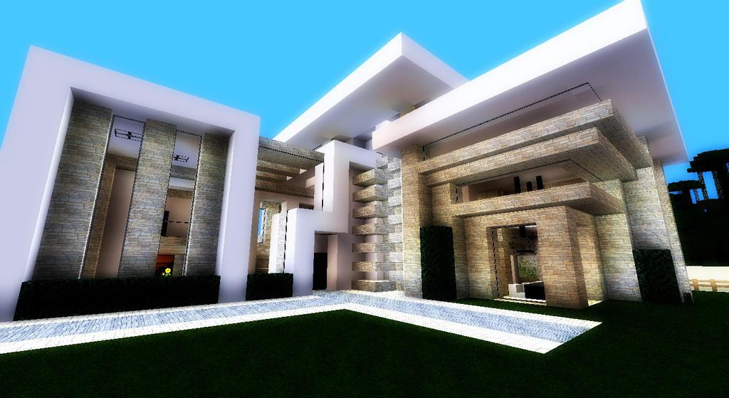 Minecraft - Modern Mansion by SaRawsaurus-Rex on DeviantArt
