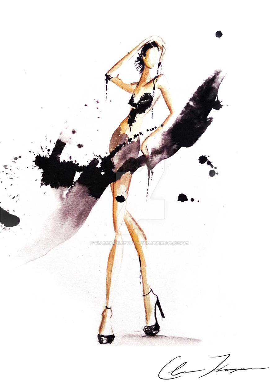 Fashion Illustration By Claireashleythompson