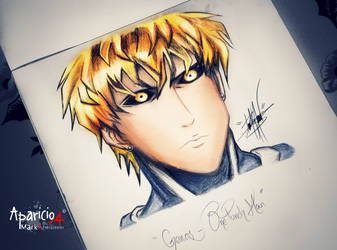 Genos draw - One Punch Man by Aparicio94