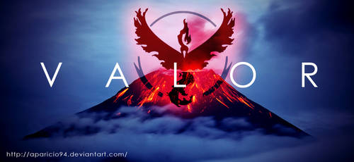 Team Red (Valor) - Pokemon Go by Aparicio94