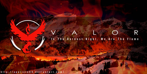 Team Red (Valor) - Pokemon Go Wallpaper by Aparicio94