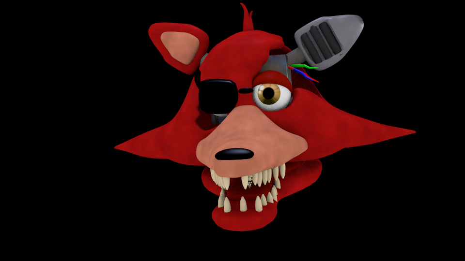 FNAF-Foxy Head By GustMoreira On DeviantArt