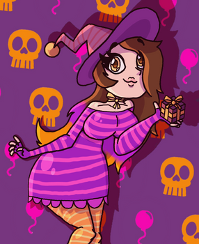 Jessyka the Halloween Birthday Witch || Artwork