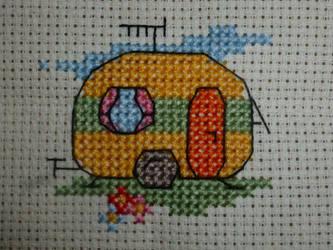 Caravan - Cross stitch by LadyMarinaKa-Fai