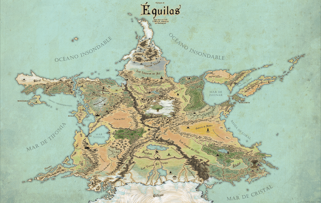 [Commission] Map of Equilas by McMagnanimus