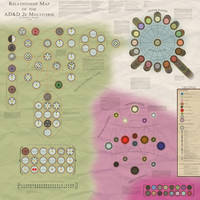 Map of the Dungeons and Dragons 2e Multiverse v2.0 by McMagnanimus