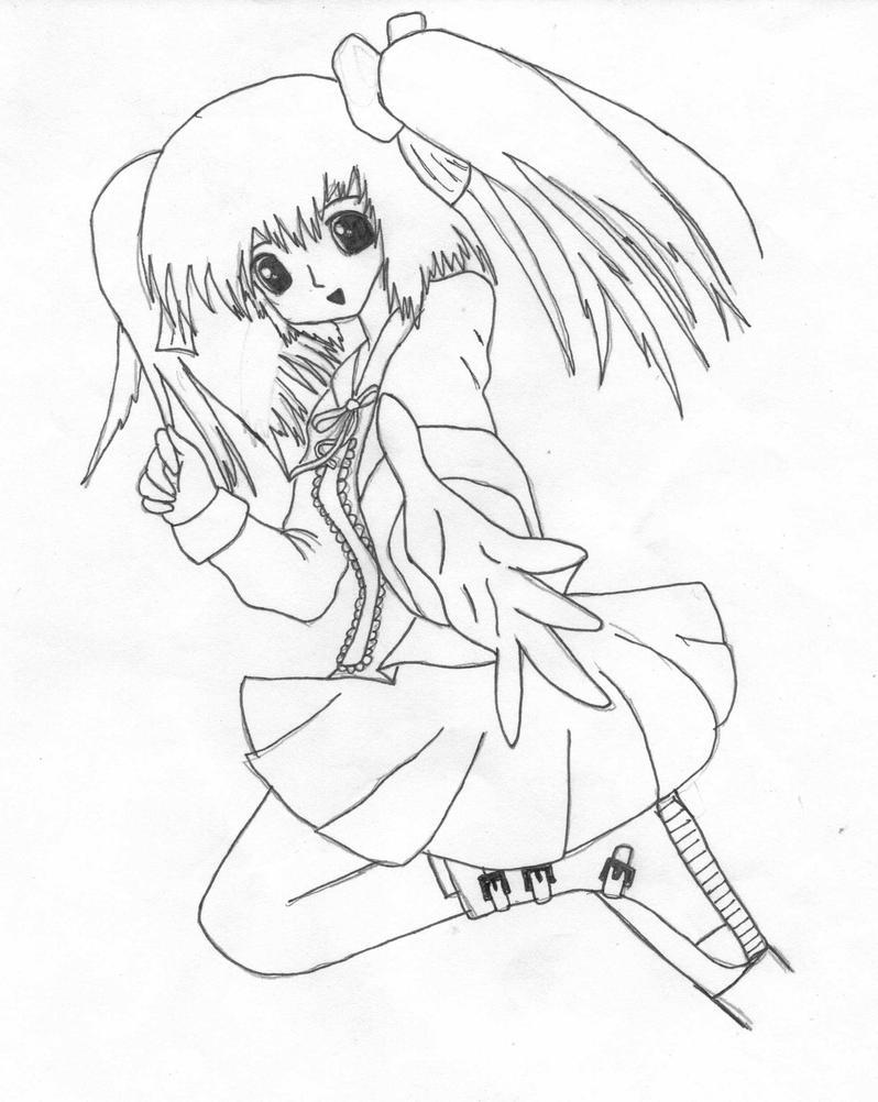 Running Anime Girl By Animeangel1294