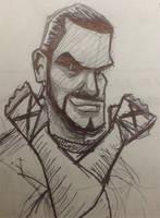 CM Punk Doodle by gordonholmes