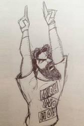 Daniel Bryan Doodle by gordonholmes
