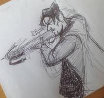 Daryl Dixon 'Walking Dead' Doodle