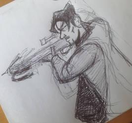 Daryl Dixon 'Walking Dead' Doodle by gordonholmes