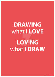 Drawing what I love