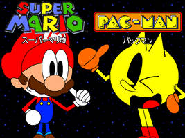 Super Mario and PAC-MAN: Crossover by CHEEZN64X