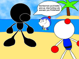 Mr Game and Watch vs Jetters Bomberman by CHEEZN64X