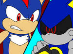 Metal Sonic VS Fake Sonic (Shadow)