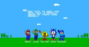 Video Game Heroes in Retro Style