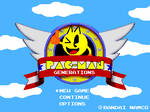 Pac-Man in Sonic Title Screen