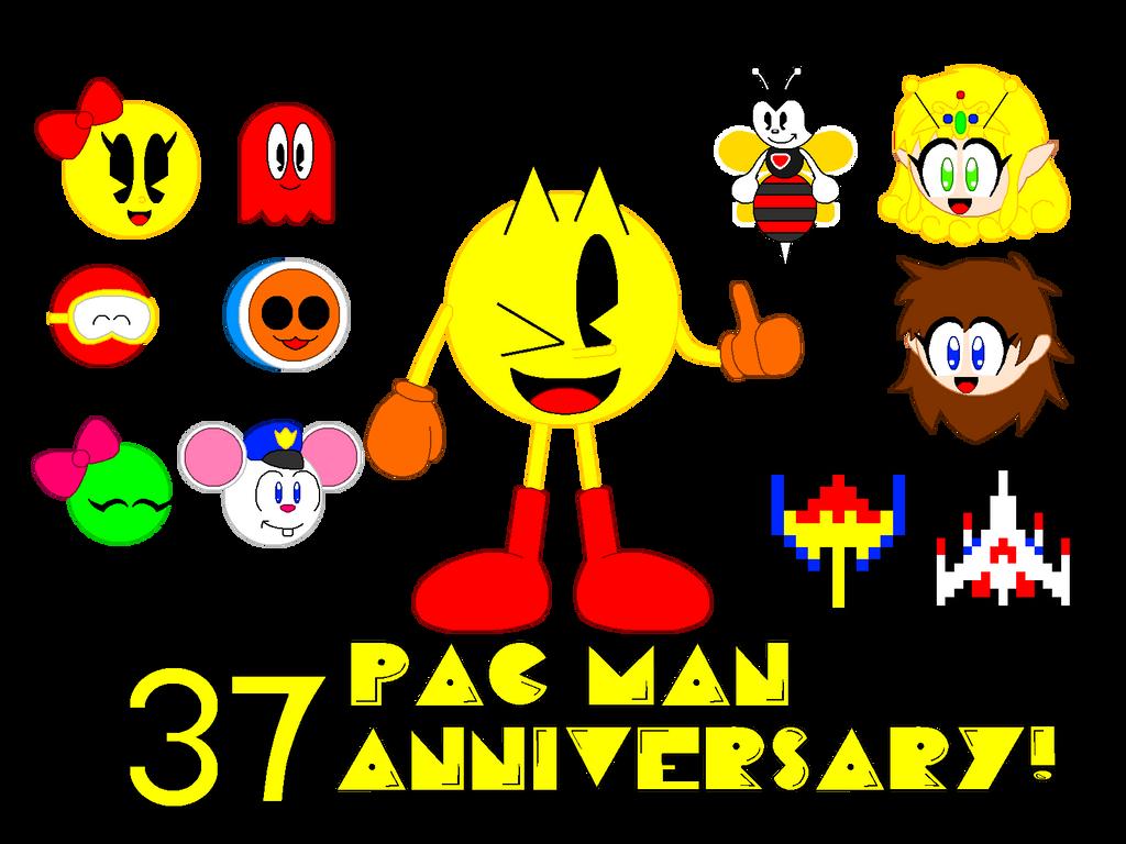 Pac Man 37th Anniversary By Cheezn64x On Deviantart