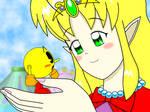 Tiny Pac-Man and Princess Luxcie