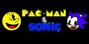 PAC-MAN and Sonic logo (Sprite version)
