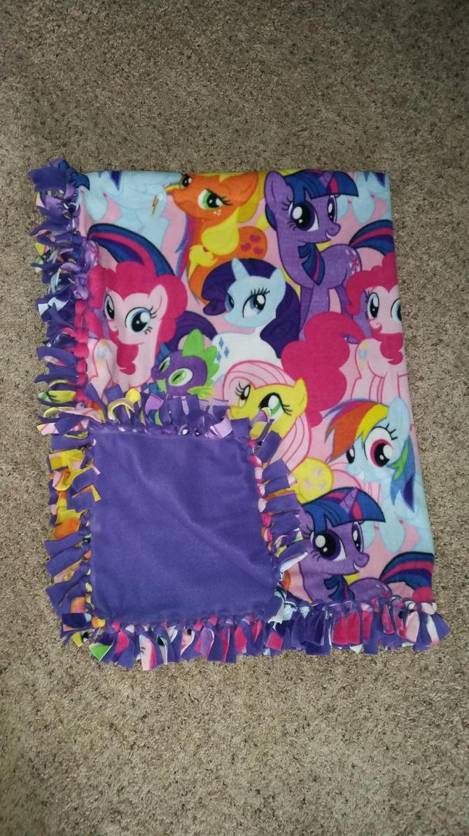my little pony fleece blanket by bottlepopart on deviantart