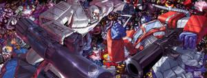Transformers Gen1 Epic Battle by James Raiz