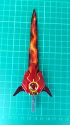 Flaming GN sword from Gundam exia dark matter by lancalotz