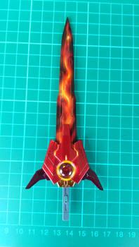 Flaming GN sword from Gundam exia dark matter