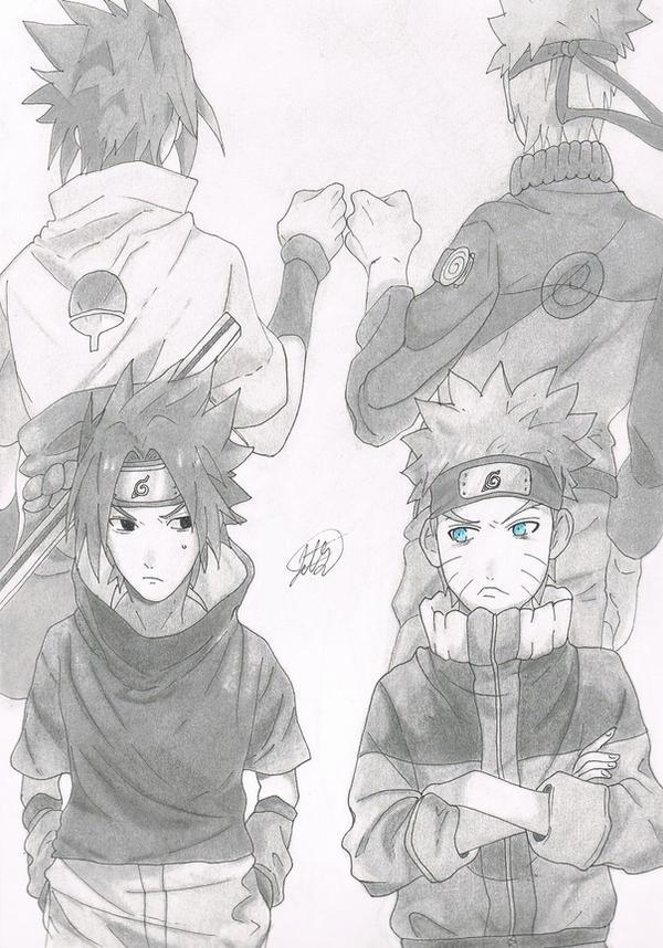 Naruto and Sasuke by jetg10