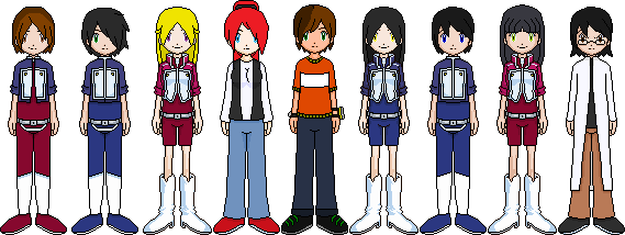 Digimon characters I've made by Maria65