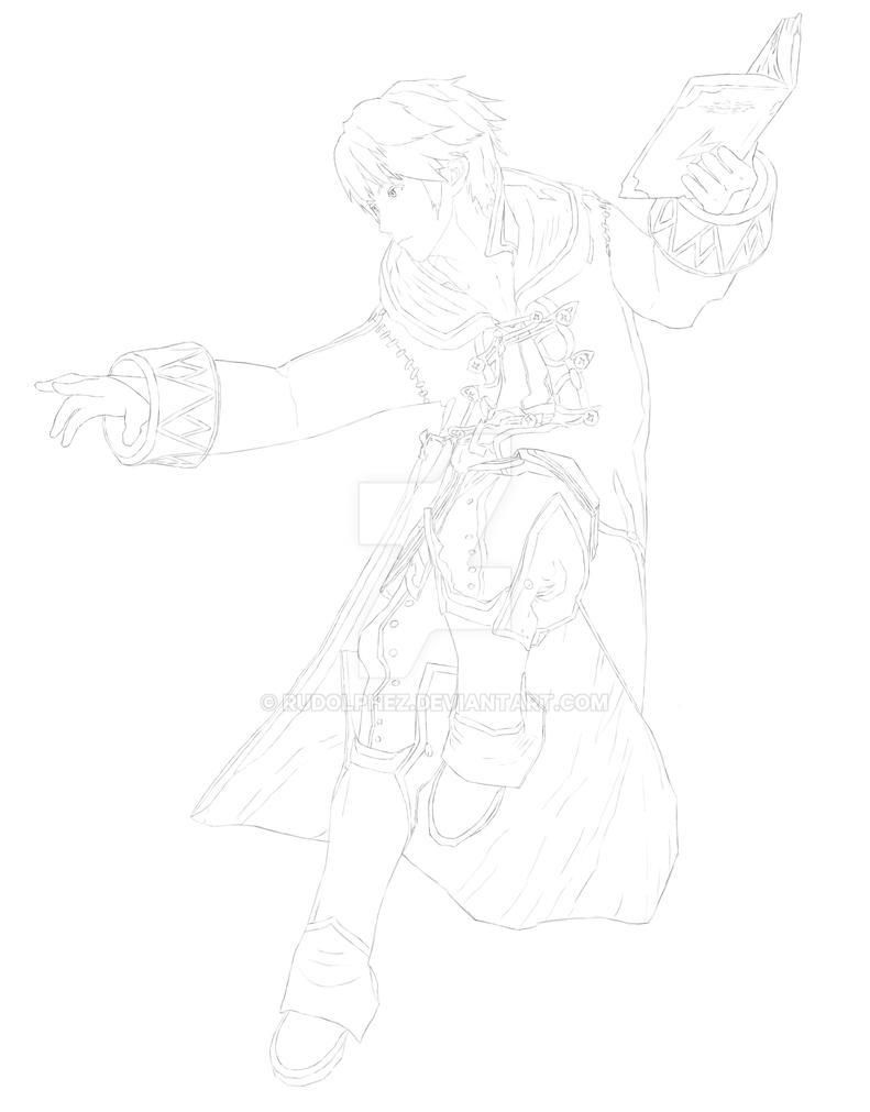 Line Drawing Robin : Line art robin by rudolphez on deviantart