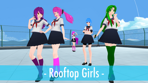 [YanSim x MMD] Rooftop Girls Models Pack (+DL!) by 10JmixP