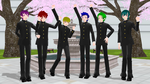[YanSim x MMD] Rainbow Team Poses DL