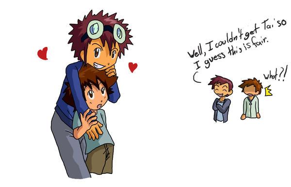 Digimon: Future couple by Shigerugal