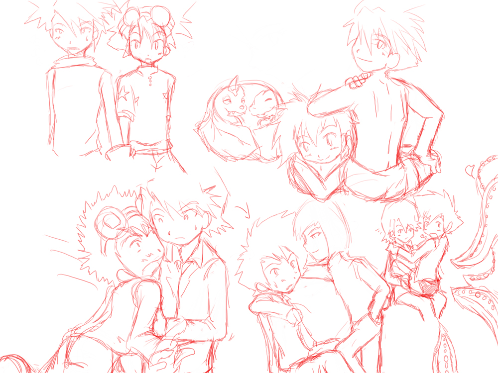 Digimon: Sketches by Shigerugal on DeviantArt