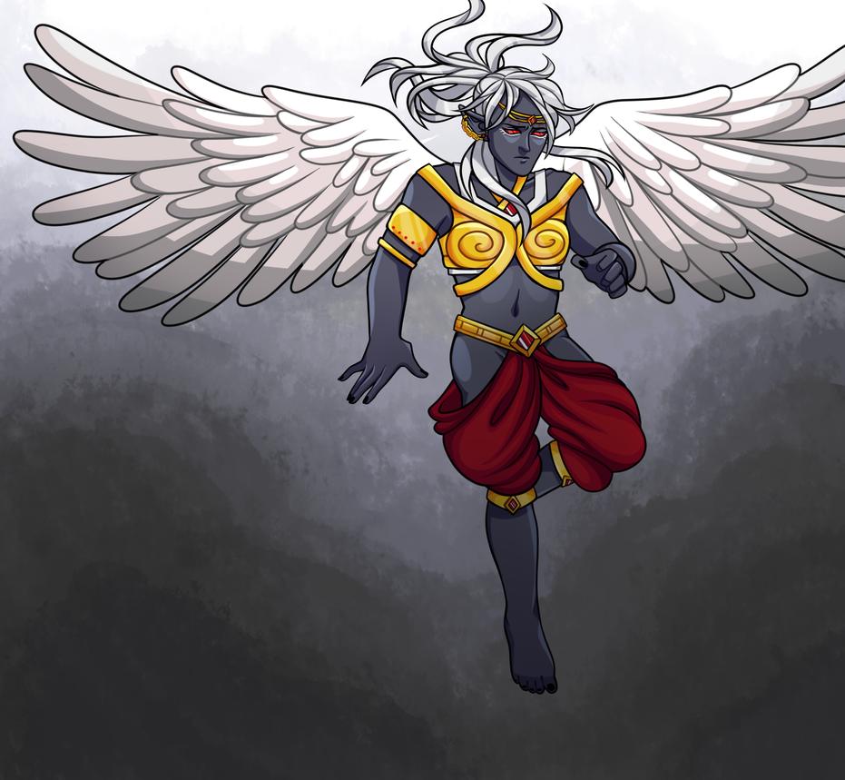 Dark Elf Angel by Thedaronobsessor