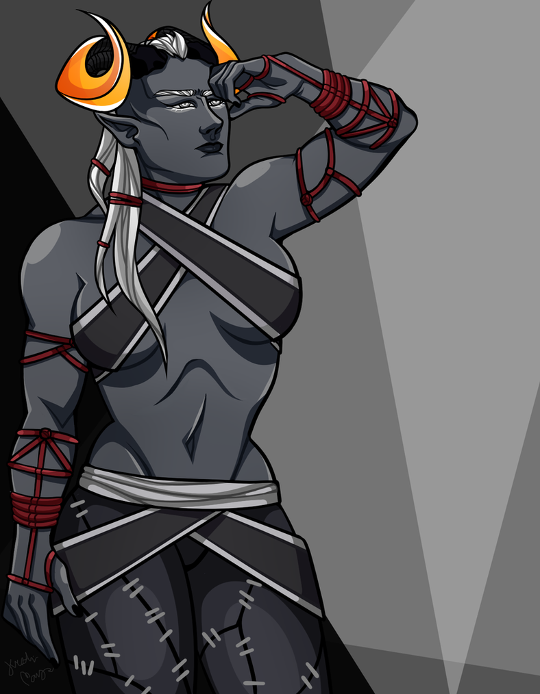 Qunari Inquisitor by Thedaronobsessor