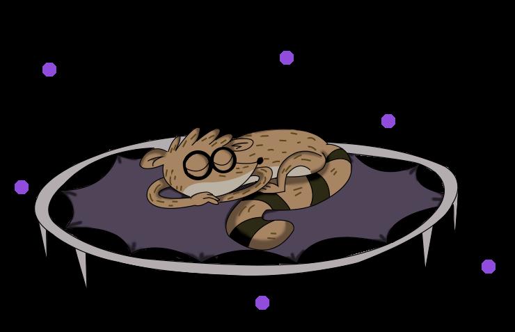 Rigby durmiendo :3 by kuki4982