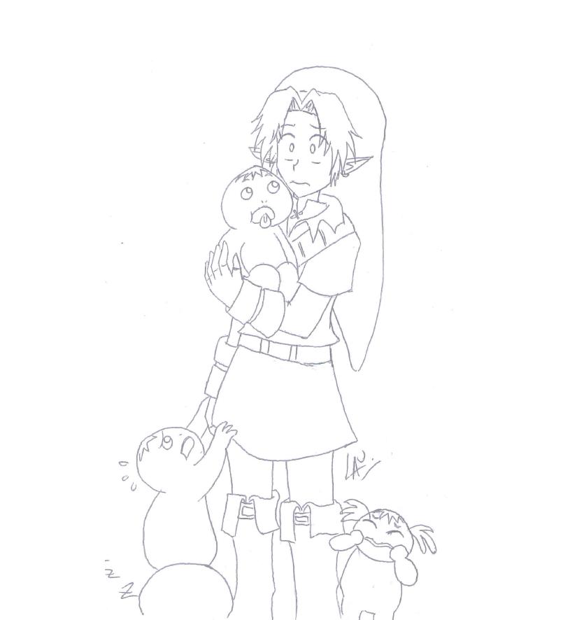 Baby Gorons :B sketch by kuki4982