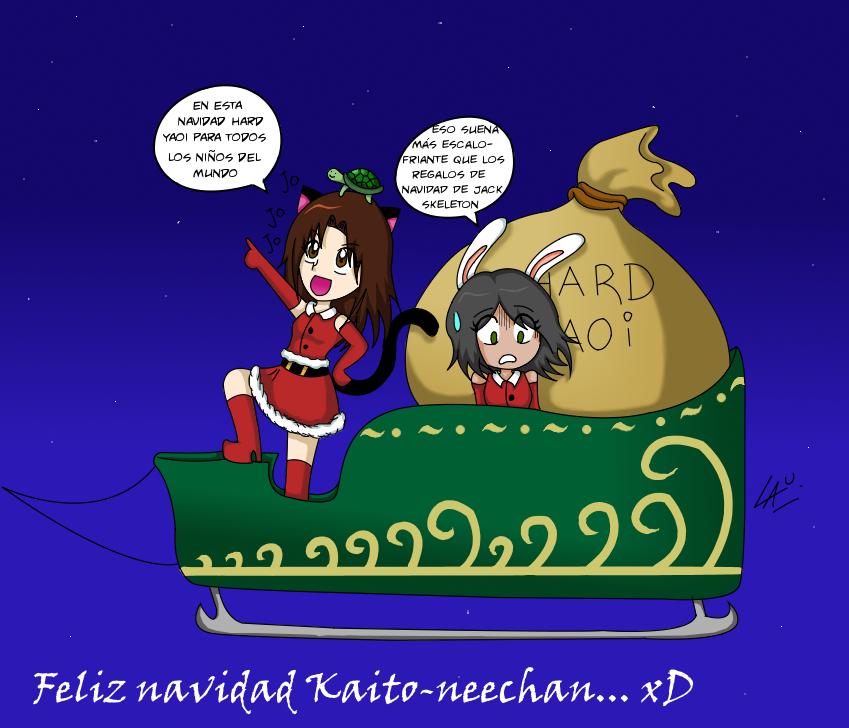 Navidad con Kaito nee-chan C: by kuki4982