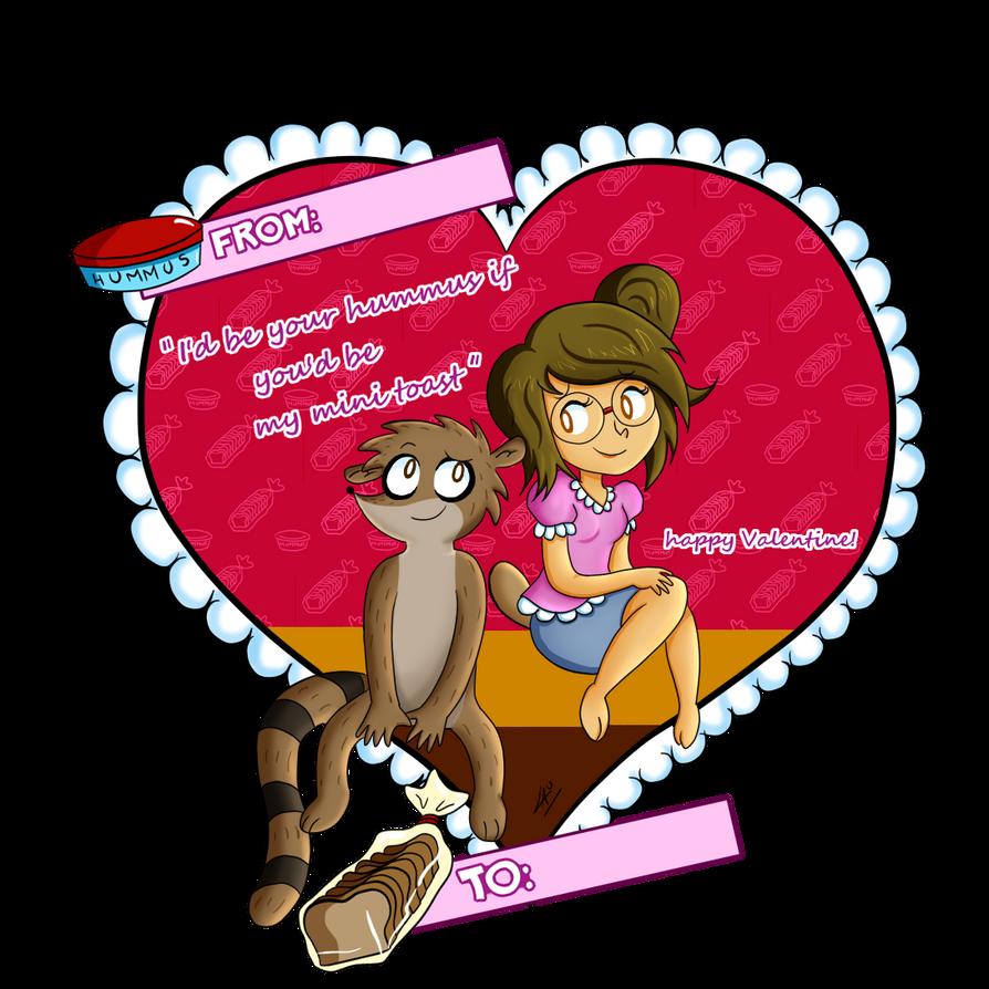 Humuuusssss... I mean... Rigleen valentine card xD by kuki4982