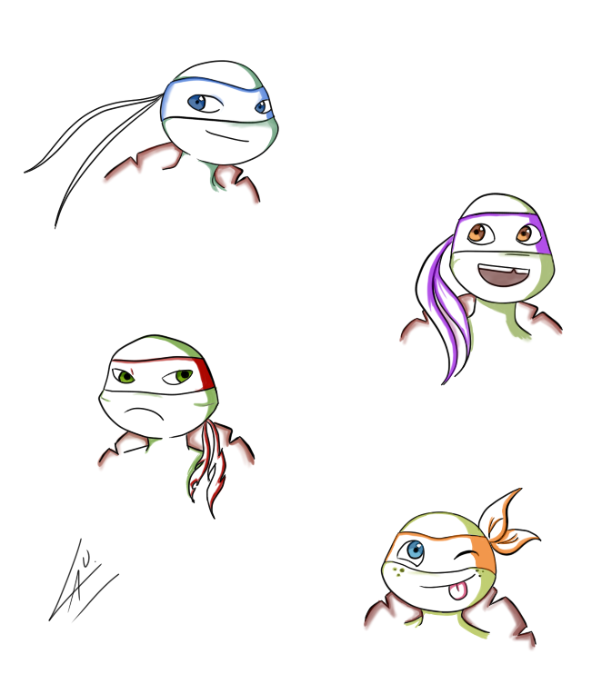 Turtle practice xD by kuki4982