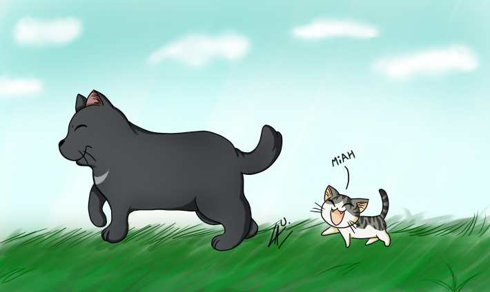 Chi and Blackie TuT by kuki4982