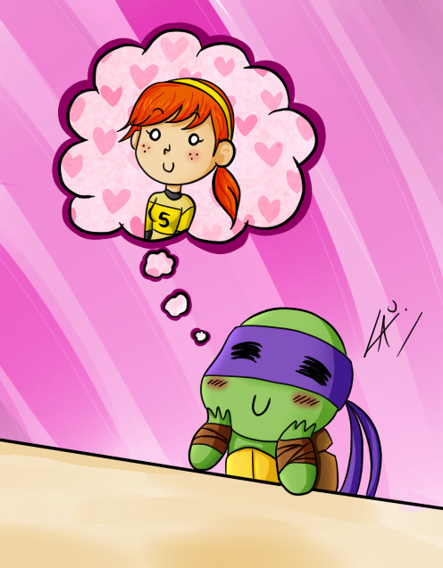 Donnie loves April by kuki4982