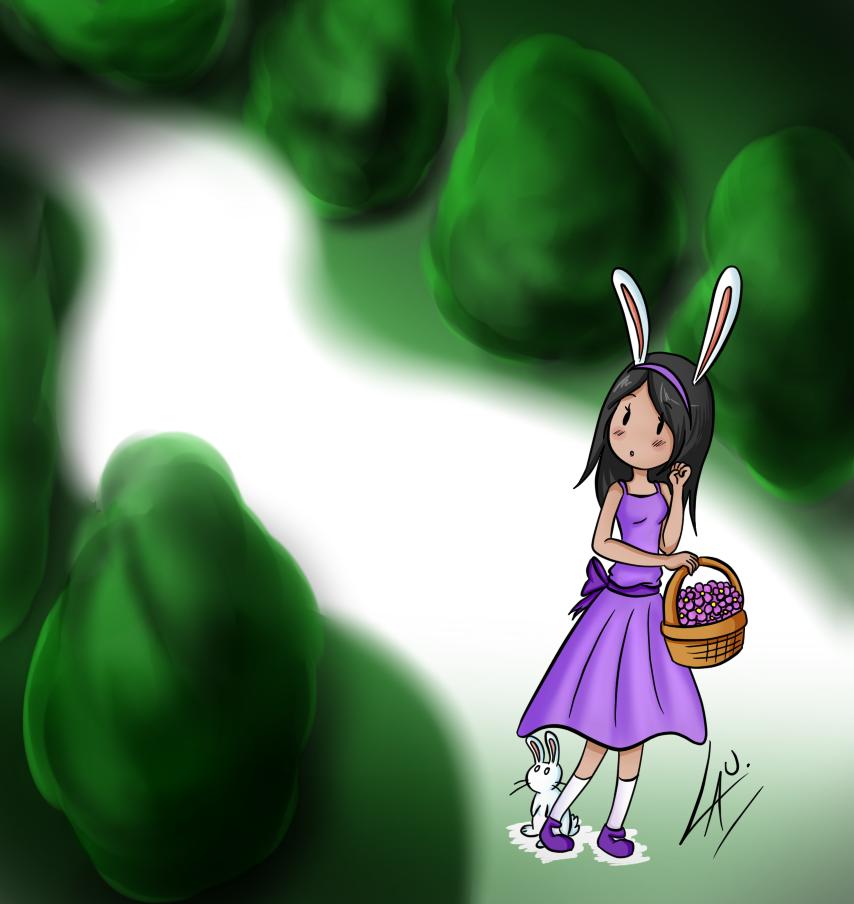 El conejo blanco y yo by kuki4982